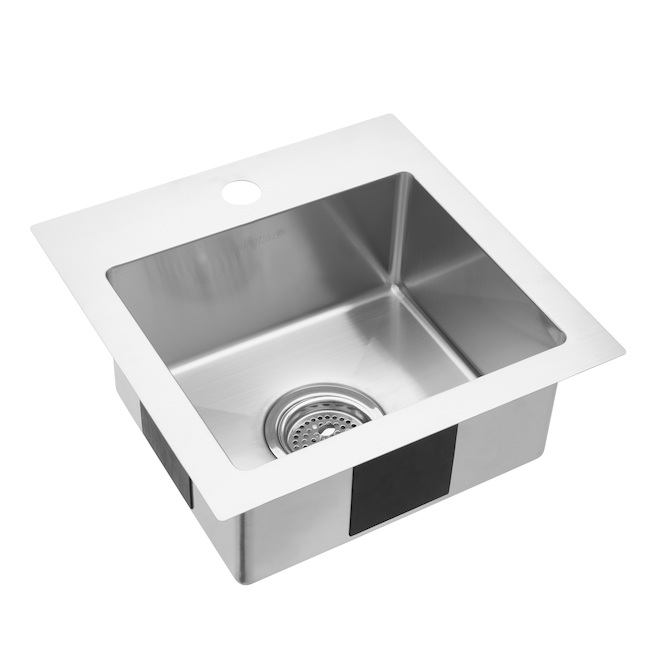 Odyssey Bar Sink - Stainless Steel - Drop-In - 15.1-in x 15.1-in