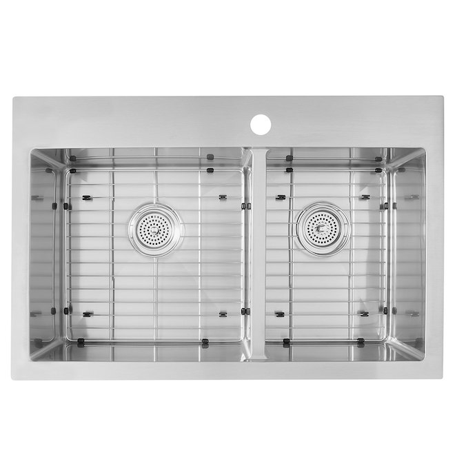 Odyssey Double Sink - Stainless Steel - 60/40 - Top/Under