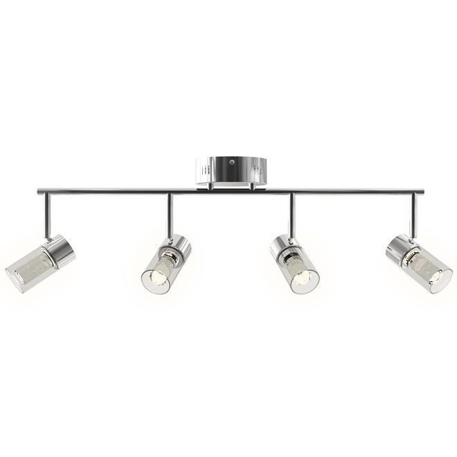 Rail d'éclairage, Ratio, 4 lumières, DEL 28 W, chrome