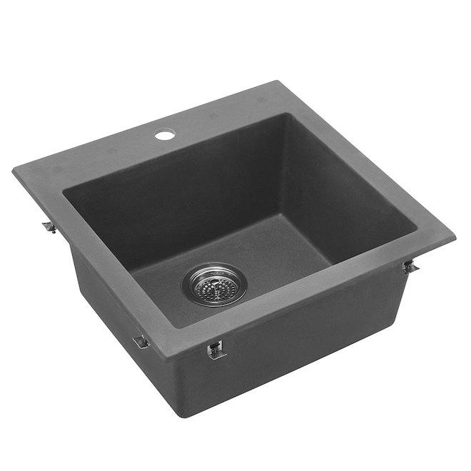 Odyssey Composite Granite Single Kitchen Sink - Grey
