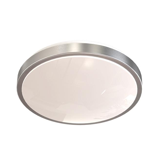 "LED Flushmount Ceiling Light - Voltz - 26 W - White/Chrome - 12"""