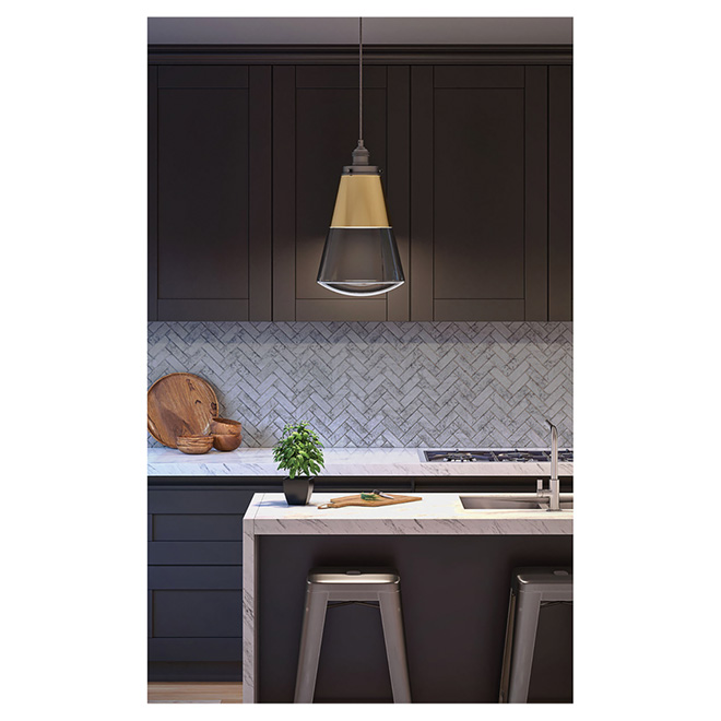 Pendant - Clear Glass - Gold Plate - Dimmable