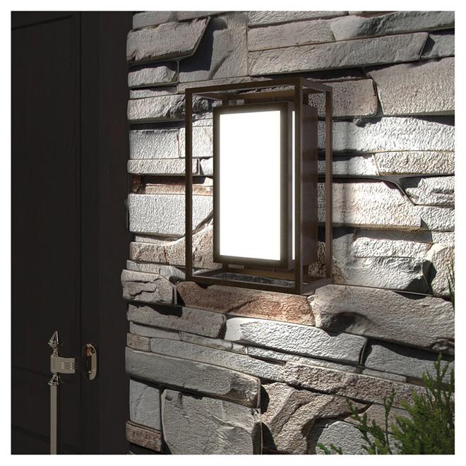 Wall Sconce Light - 7.1'' x 10.6'' x 4.5'' - Ghost - Bronze