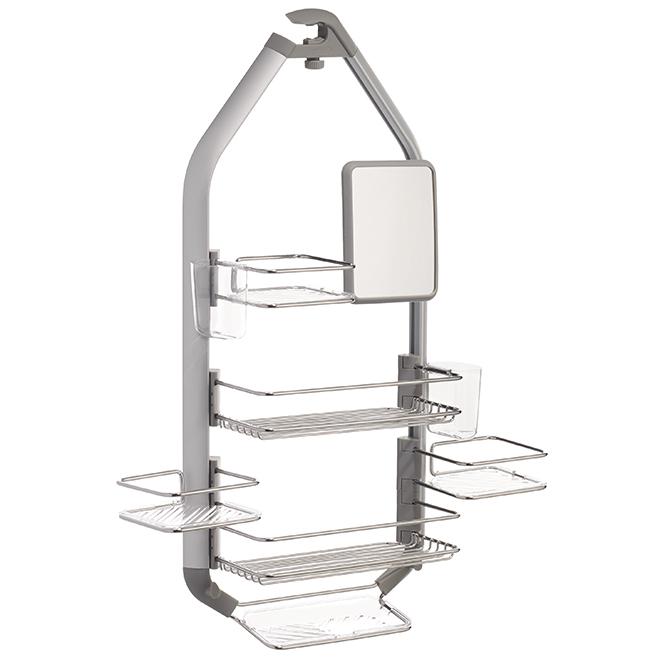 artika for living shower caddy, silver cadg2-c1 | rona