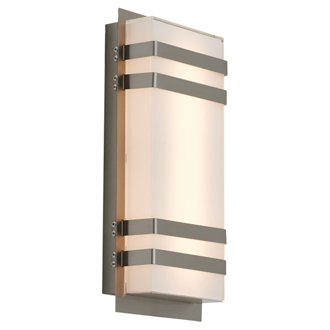 Glow Box 3 Outdoor Fixture - 18 W LED - Satin Nickel