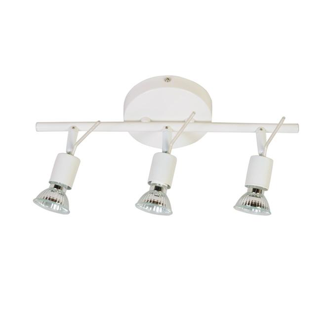 Rail d'éclairage à 3 lumières