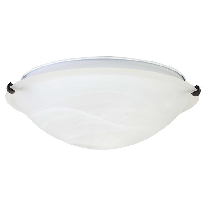 """Frosted White Glass Flushnount - 16"""""""