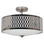 Uberhaus Ceiling Light - Semi-Flush - Chrome - 2-Light