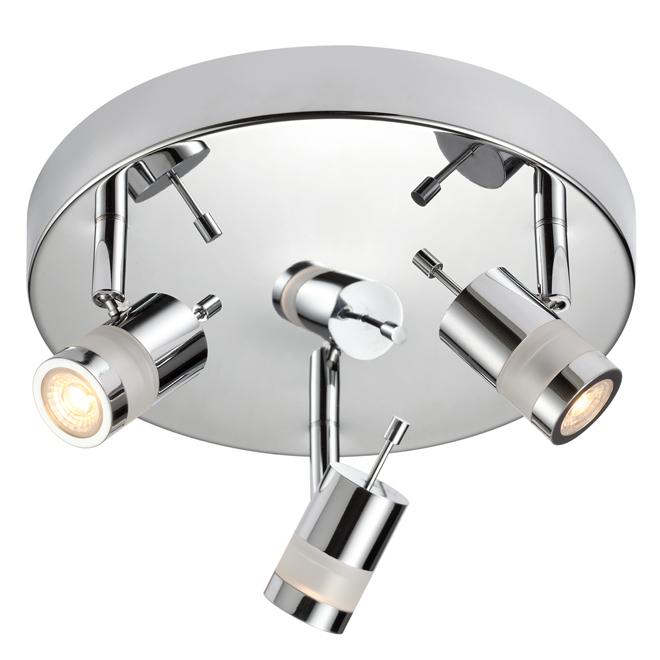 3-Light Track Light - 5 W LED - Chrome