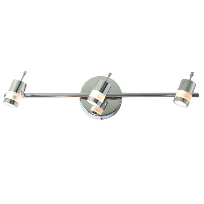 Luminaire sur rail à 3 lumières, 5 W, chrome