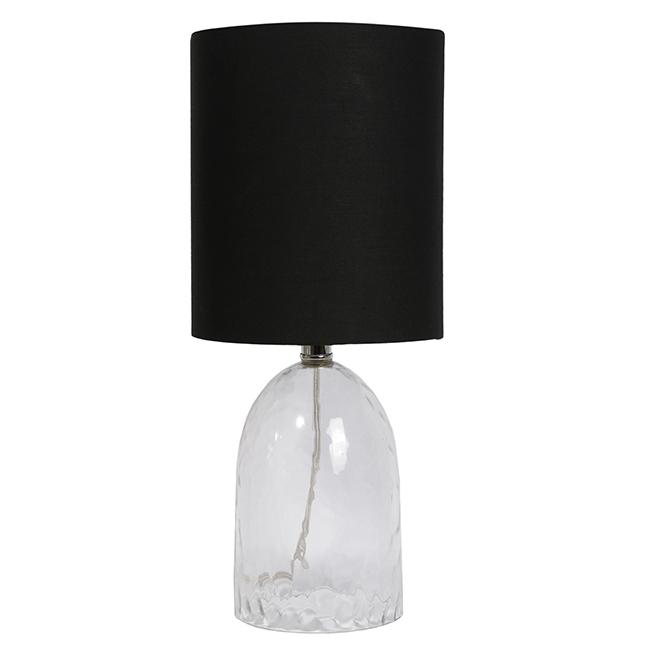 Uberhaus Table Lamp - 8-in x 18.25-in - Black and Transparent