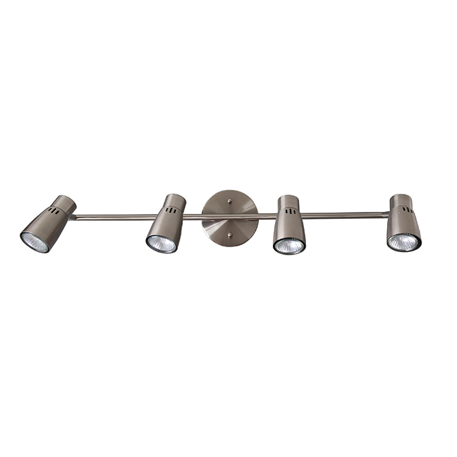 Track Light - 4 Lights - Project Source - Satin Nickel