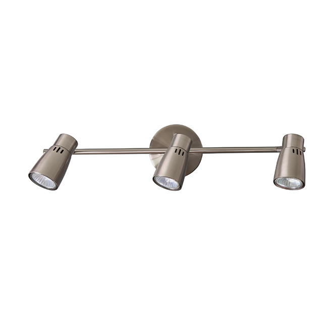 Whisper Linear Tracklight - 3 Lights - Brushed Nickel