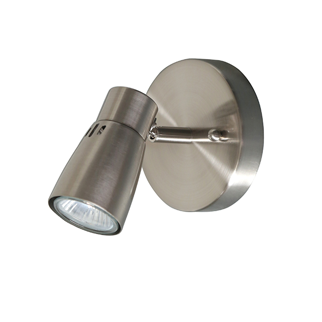 Whisper Round Ceiling Light - 1 Light - Brushed Nickel