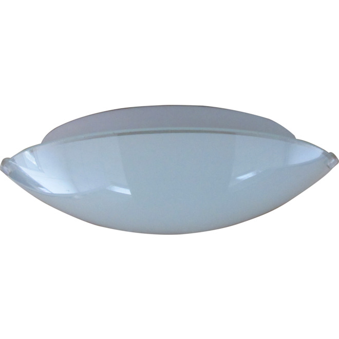 Project Source 1-Light Flush Mount Ceiling Light - 10-in x 2.95-in - Opal Glass