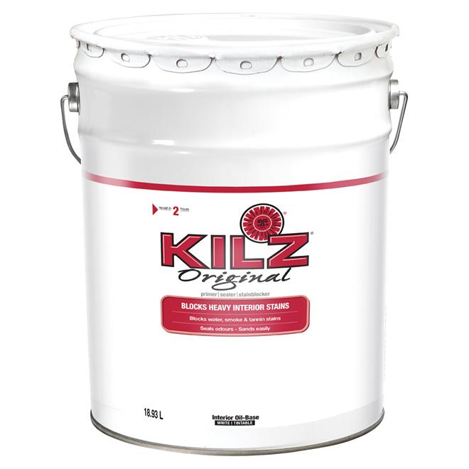 Kilz Original Interior Alkyd Primer-Sealer -18.93 L - White