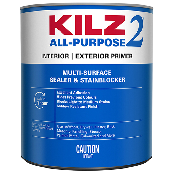 Interior Water-Based Primer - Sealer/Stain Blocker - 946 ml
