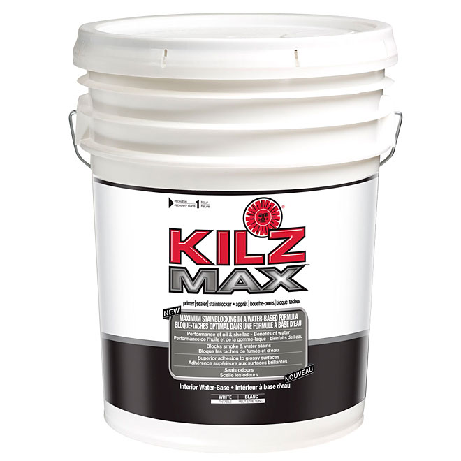 KILZ MAX Interior Water-Base Primer/Stain Blocker - 18.93 L