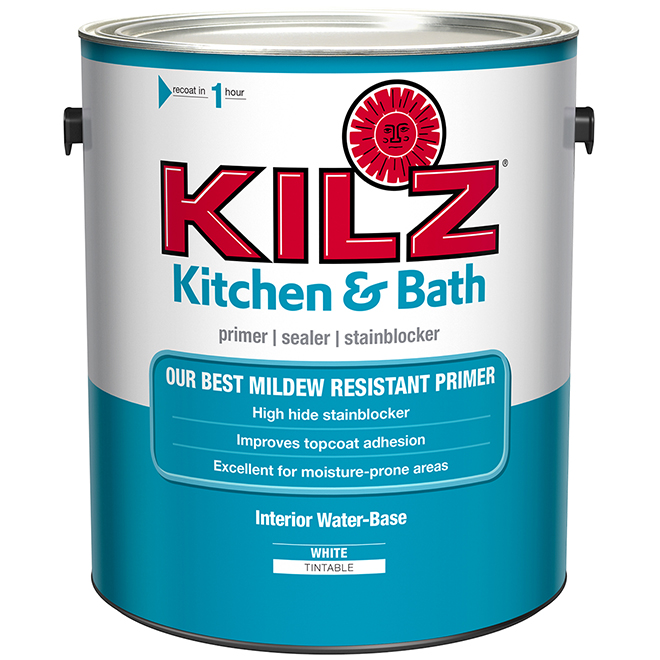 Water-Based Primer - Kitchen and Bathroom - 3.78L - White