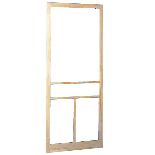 Colonial Elegance Screen Door - 32-in W x 81-in H - T-Bar - Finger Jointed Pine
