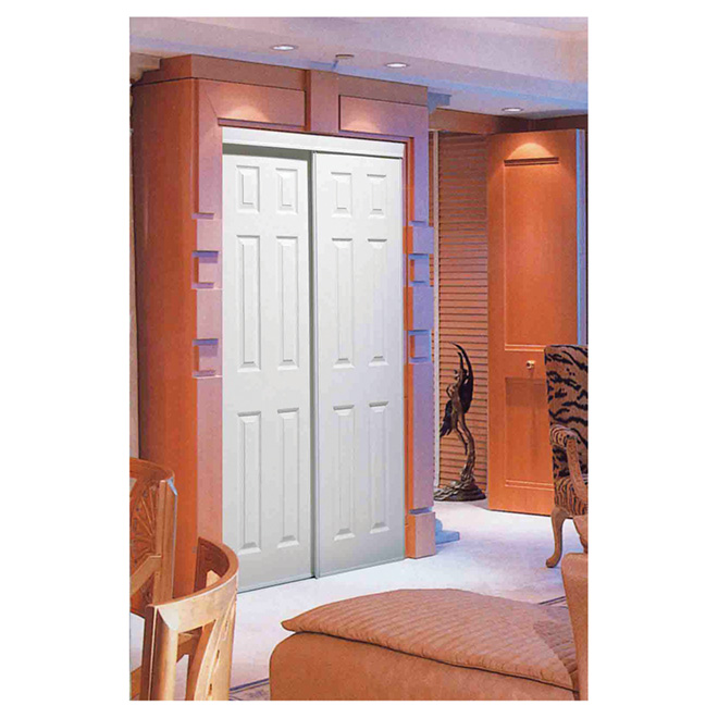 "Colonial Elegance ""Bostonian"" Sliding Door - 36 in. x 80 1/2 in. - White"