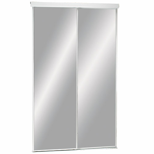 Colonial Elegance Economical Series Sliding Door - White Finish - 60-in W x 80 1/2-in H