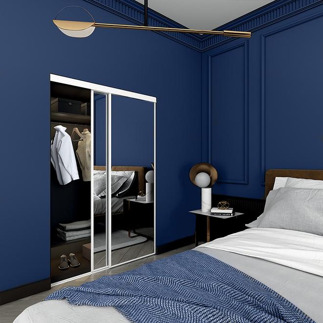 """Porte miroir coulissante, série économique, Colonial Elegance, 72"""" x 80,5"""", blanc"""