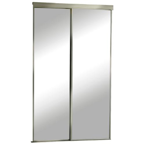 "Colonial Elegance - Sliding Mirror Door - 36"" x 80.5"" - Champagne"