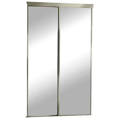 """Colonial Elegance - Mirrored Sliding Door - 60"""" x 80 1/2"""" - Champagne"""