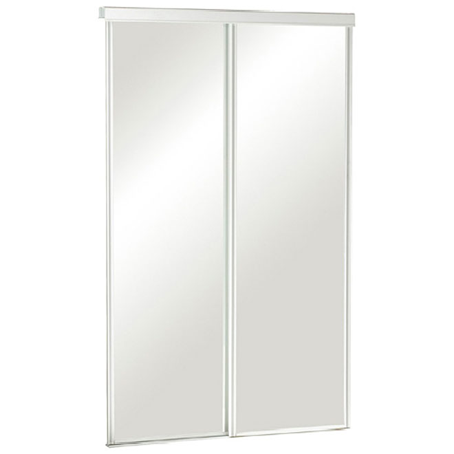 Colonial Elegance - Frameless Mirror Sliding Door - 48'' x 80 1/2''