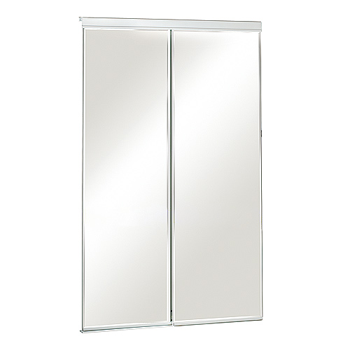 "Colonial Elegance - Frameless Sliding Mirror Door - Bevelled - 48"" x 80.5"""