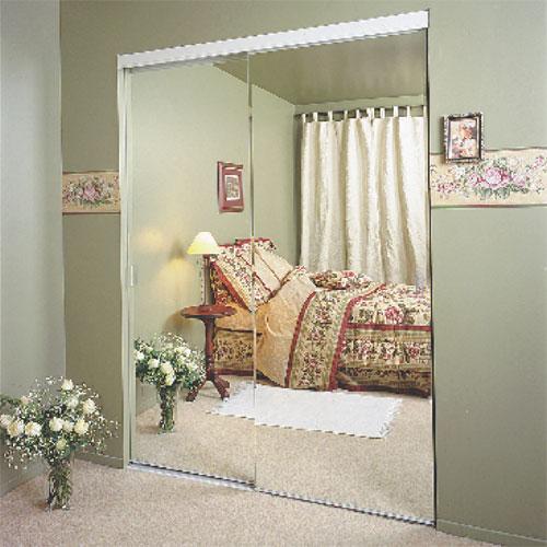"Colonial Elegance - Frameless Sliding Mirror Door - Bevelled - 72"" x 80.5"""