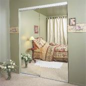 "Colonial Elegance - Frameless Sliding Mirror Door - Bevelled - 72"" x 80.5"""
