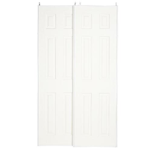 Colonial Elegance Sliding Door - 6-Panel - MDF - Primed White