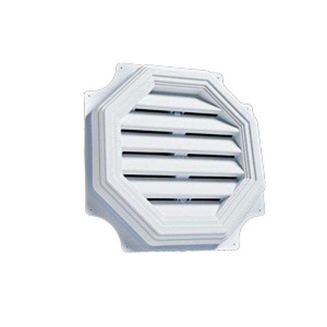 "Persienne de ventilation octogonale 16"" blanc"