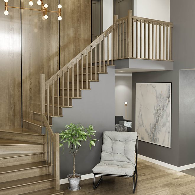 """Modern"" Maple Handrail - 8' - Natural"