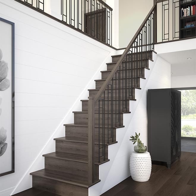 """""""Zen"""" Oak Handrail - 8' - Natural"""
