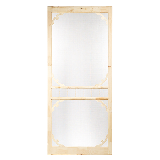 Colonial Elegance Screen Door - 36-in W x 82-in H - Ashgrove Rustic Pine - Fibreglass Screen