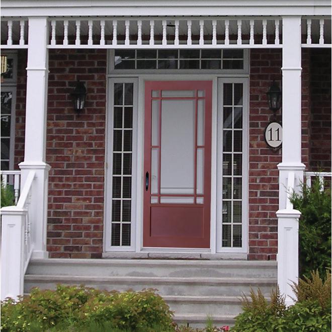 Colonial Elegance Prairie Screen Door - Fibreglass Screen - Rustic - Natural Pine