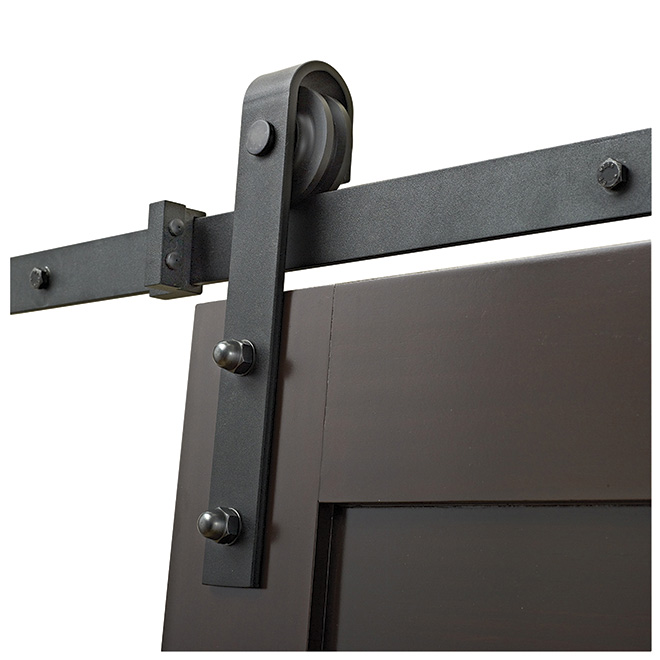 Barn Sliding Door Rail Black Rona