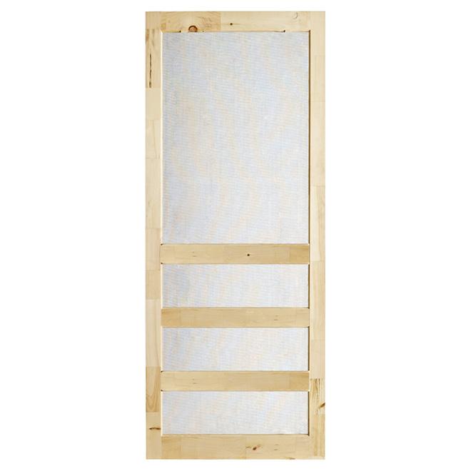 """""""Zen"""" Rustic Pine Screen Door 33"""" - Natural"""