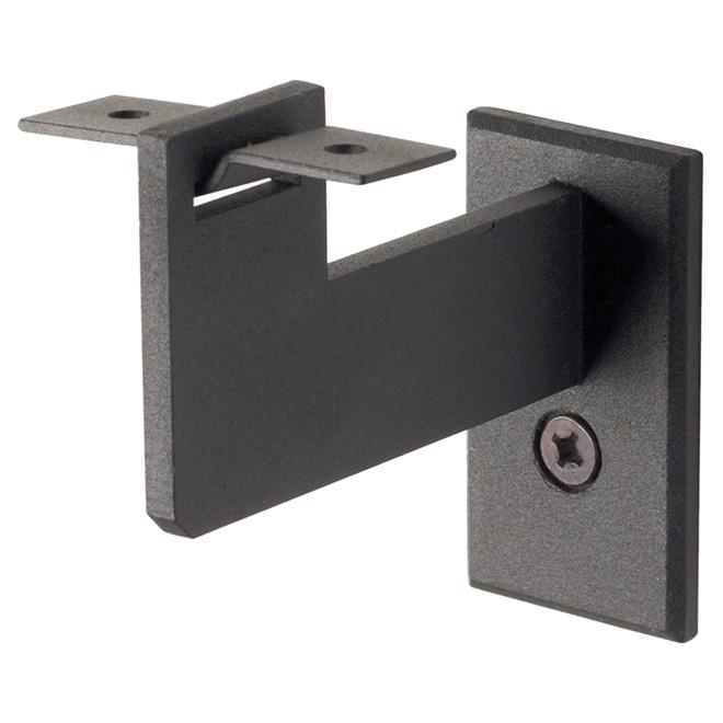 Support pour main courante en acier, noir