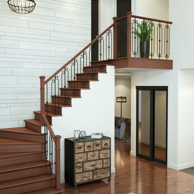 """Oxford"" Wrought Iron Balustrade - Stairs"