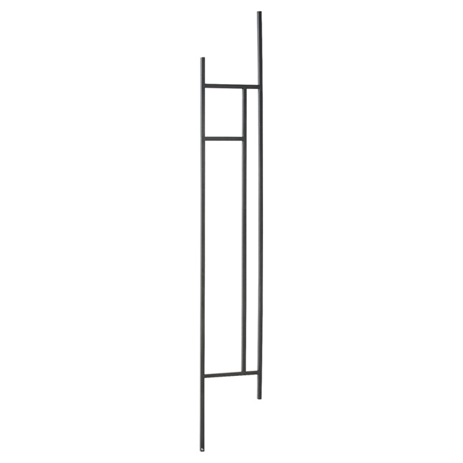 """Zen"" Wrought Iron Knee Wall Balustrade - Stairs"