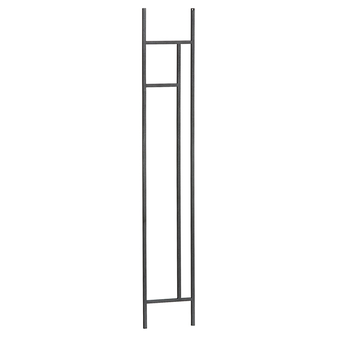 """Zen"" Wrought Iron Knee Wall Balustrade-Horizontal"