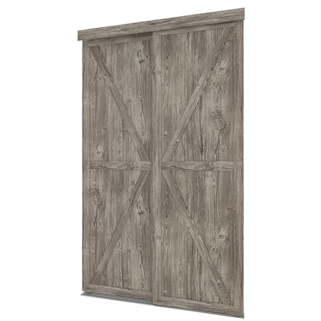 "Countryside Sliding Door - Antique - 48"" x 80 1/2"""