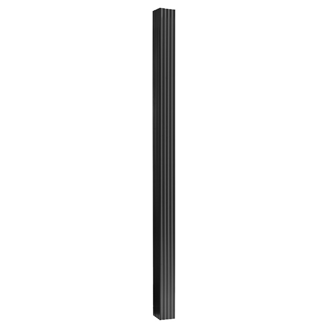 "Aluminum Square Column - 5 1/4"" x 8' - Black"