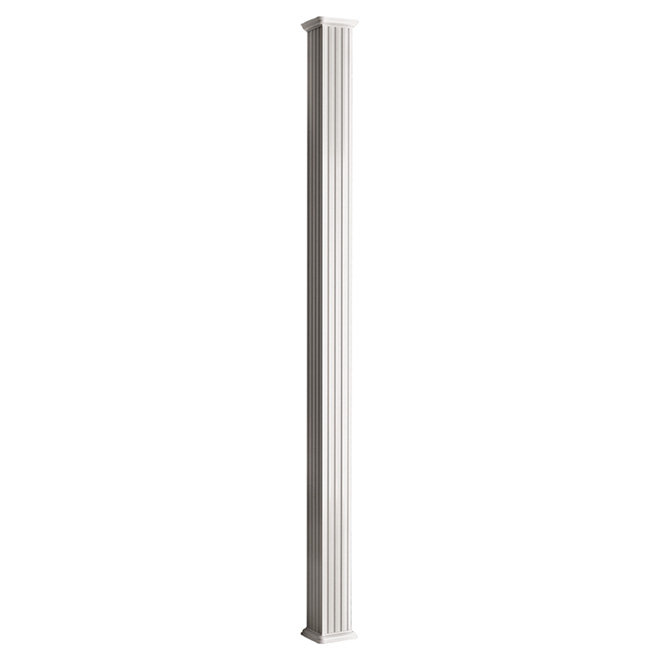 "Aluminum Square Column - 5 1/4"" x 8' - White"