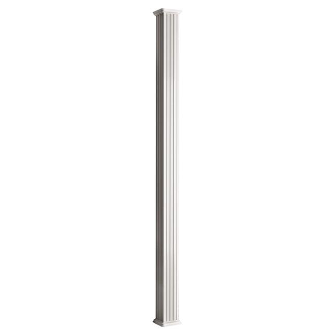 "Aluminum Square Column - 3 3/4"" x 8' - White"