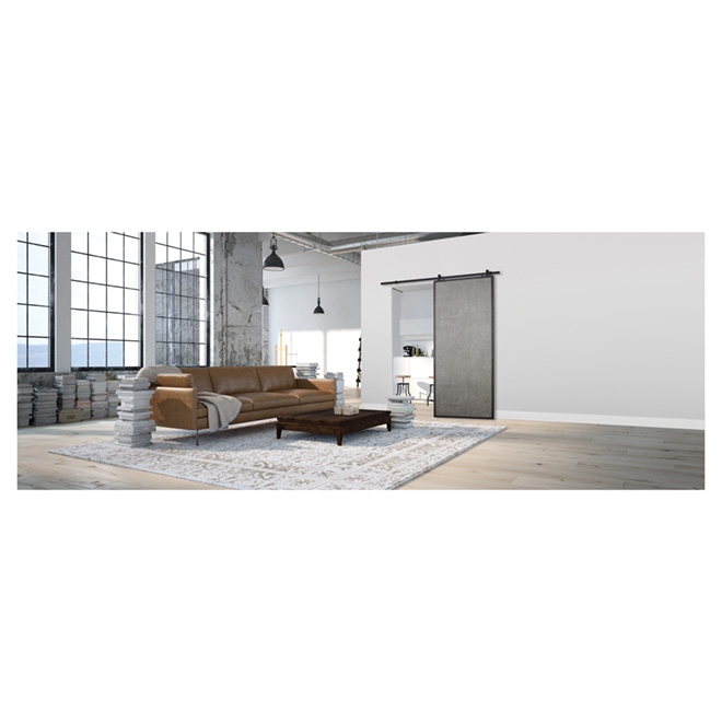 Colonial Elegance Door for rail system - 37 in. x 84 in. - Concrete Grey